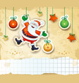 christmas background with happy santa and copy vector image