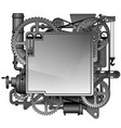 complex iron fantastic machine vector image vector image