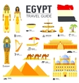 Country Egypt travel vacation guide of goods vector image vector image
