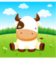 Cow in farm vector image