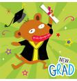 dog animal congratulation new graduate cute cartoo vector image vector image
