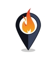Flame Point - Map Pointer With Fireplace Sign vector image vector image
