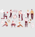 flat love people set vector image vector image