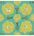 floral seamless pattern with blooming flowers and vector image vector image