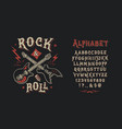 font rock n roll vector image
