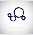 gears on a white background working gear vector image vector image