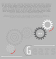 gears with on the grey background business and vector image vector image