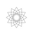 geometric logo or symbol for decoration vector image