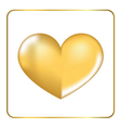 Gold heart 3D 3 vector image