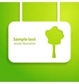 Green applique background for your ecology vector image vector image