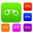 handcuffs set collection vector image vector image