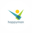 happy man logo vector image vector image