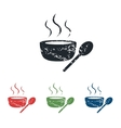 Hot soup grunge icon set vector image vector image