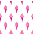ice-cream pattern colored-13 vector image
