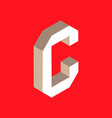 isometric letter c vector image vector image