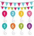 Kid birthday party set vector image vector image