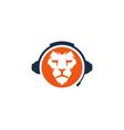 lion podcast logo icon design vector image