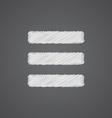 list sketch logo doodle icon vector image vector image