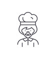 male cook line icon concept male cook vector image