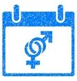Marriage Calendar Day Grainy Texture Icon vector image vector image