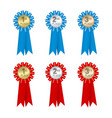medal badge rank vector image