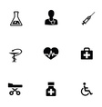 medical 9 icons set vector image vector image