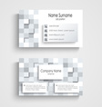 Modern business card with abstract square template vector image vector image