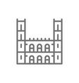 notre dame basilica montreal line icon vector image