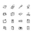 office element black icon set on white background vector image vector image
