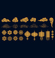oriental elements asian gold traditional vector image vector image