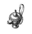 oriental oil lamp vector image vector image