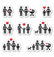 people icons - family bapregnant woman coupl vector image