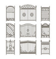 pictures iron doors or gates with swirls vector image vector image