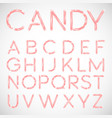 pink candy font vector image