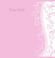 postcard wiht place for your text pink card vector image