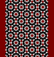 red and black moroccan motif tile pattern vector image vector image