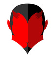 Red Devil icon Demon sign flat style Heck with vector image vector image