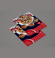 restaurant pizza delivery poster template vector image vector image