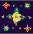 rhombic colorful seamless floral pattern pattern vector image