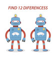 robot differences vector image