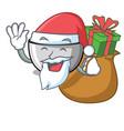 santa with gift juicer mascot cartoon style vector image vector image