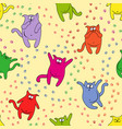 seamless pattern with amusing cats vector image