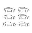 set of black cars icons - stock vector image