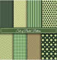 set of green seamless pattern vector image