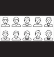 set of male icons on white background vector image