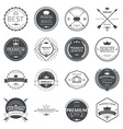 set premium quality labels and badges vector image vector image