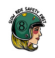 slow ride safety first vector image