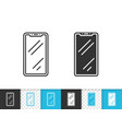 smartphone simple black line icon vector image