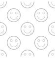 Smiling emoticons pattern vector image vector image