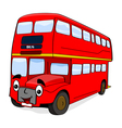 Smiling red bus vector | Price: 1 Credit (USD $1)